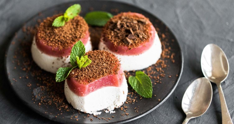 Strawberries & Cream Panna Cotta
