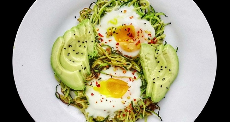 Zoodle Nests With Baked Eggs Recipe
