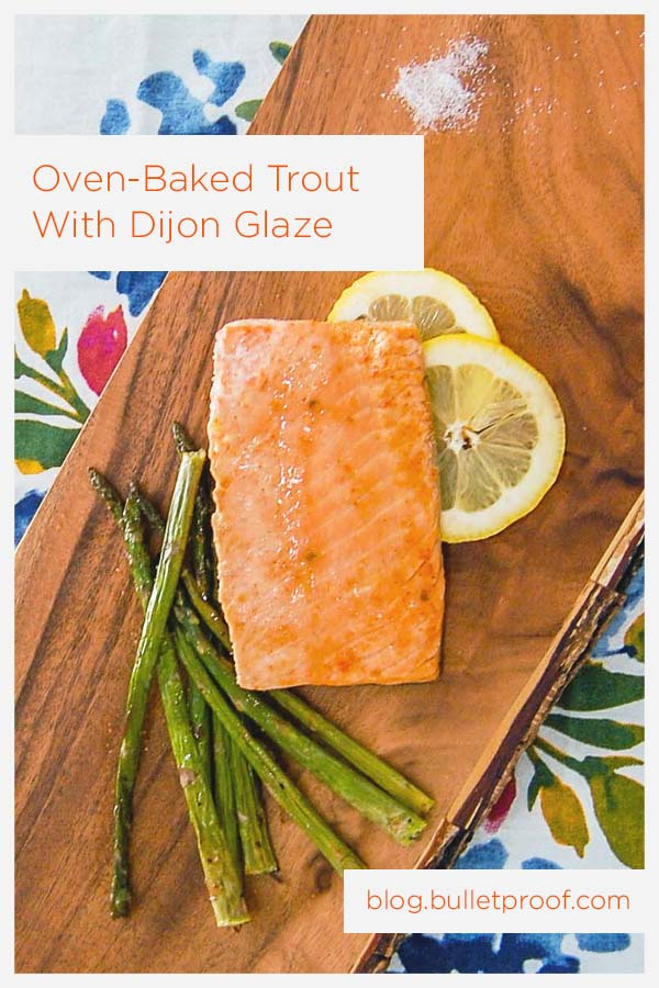 Oven baked trout recipe