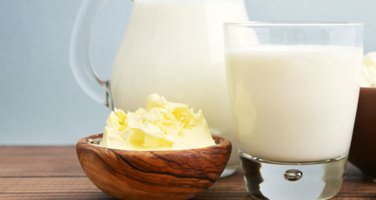 natural butter and milk