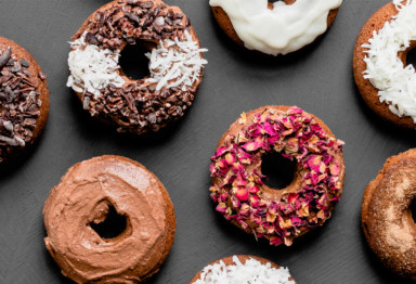 These moist, cakey chocolate cinnamon keto donuts are packed with gut-loving resistant starch -- and take just 12 minutes to prep.