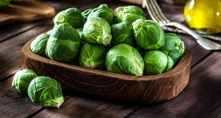 Brussels sprouts in bowl