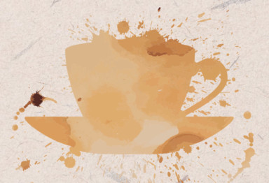 Coffee stain graphic
