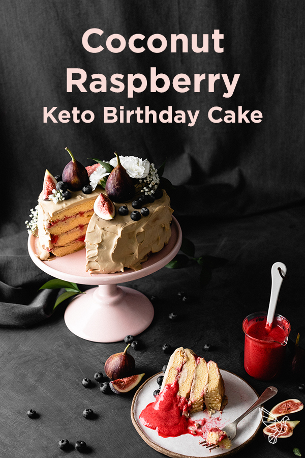 This keto birthday cake recipe is perfect for special occasions: Layers of moist cake and a dairy-free frosting make this dessert a total crowd pleaser.