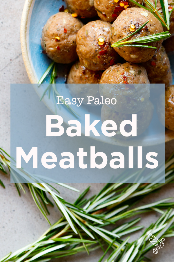 With flavor from garlic and fresh herbs, this recipe for baked meatballs stays totally paleo, keto, and Whole30-friendly -- all with minutes of prep.