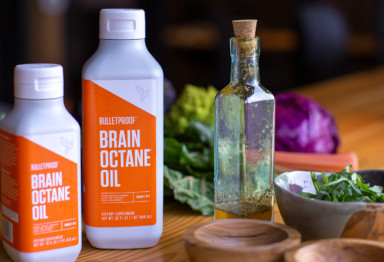 MCT oil in salad dressing using Brain Octane oil