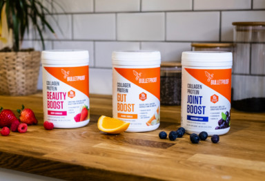 Row of Collagen Protein Boosts