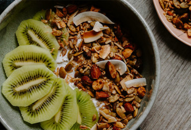 Grain free granola bowl with kiwi
