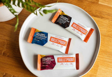 A plate of Bulletproof Collagen Protein Bars