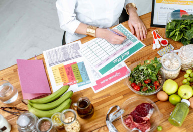 Woman meal planning