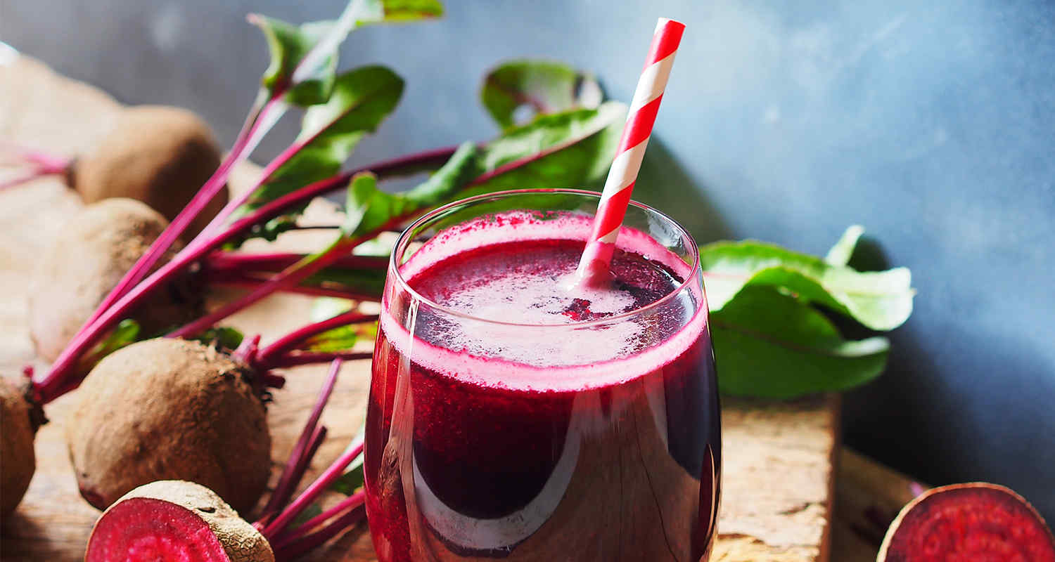 A beet smoothie
