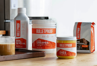 A collection of Bulletproof Coffee products