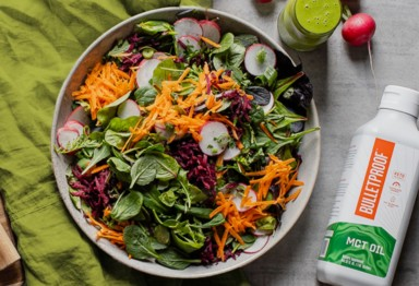 Chopped salad with Bulletproof MCT Oil