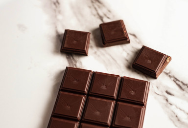 Squares of a Bulletproof Chocolate Bar